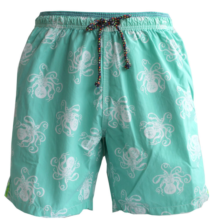Aqua Jellyfish Swim Trunks