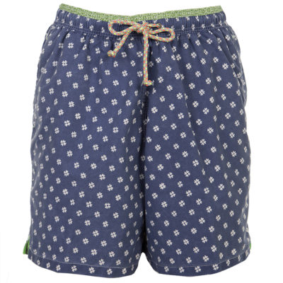 Navy Patterned Swim Trunk