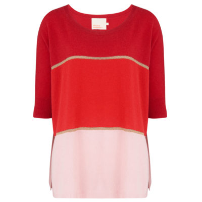 Rose Lurex Cashmere Jumper