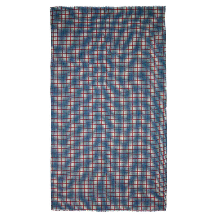 Dogtooth Checked Scarf Flat
