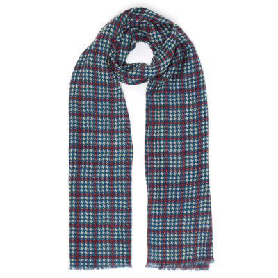Mens Dogtooth Checked Scarf