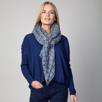 Dogtooth checked scarf