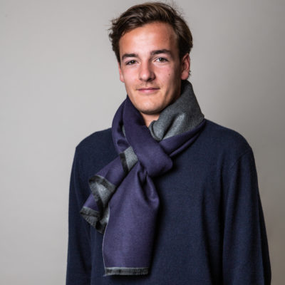 mens navy grey commuter express scarf