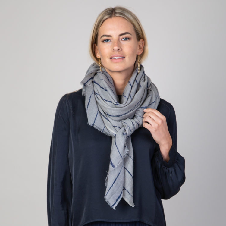 Taupe Broken Lines scarf