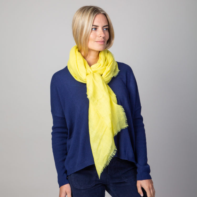 yellow cashmere wrap