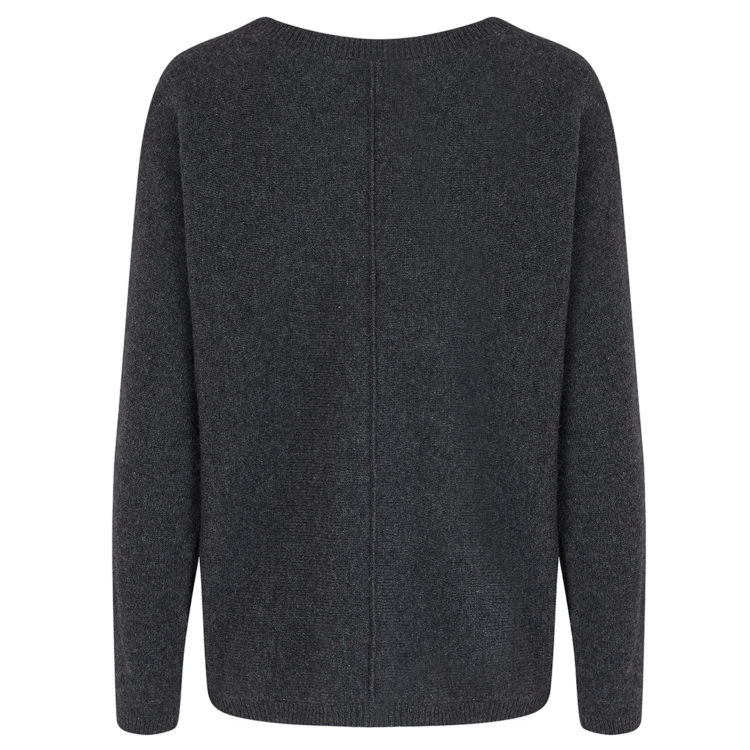 Charcoal two pocket cashmere mix jumper