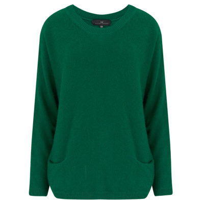 Emerald Green two pocket cashmere jumper