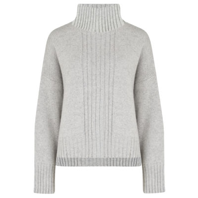 Pale Grey Chunky Turtleneck