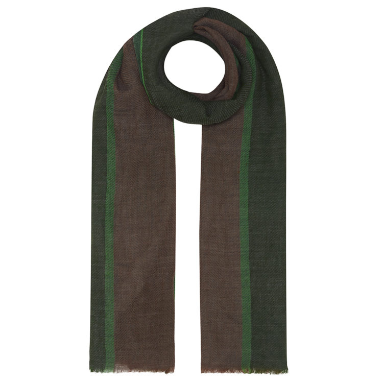 mens khaki tweed wool scarf
