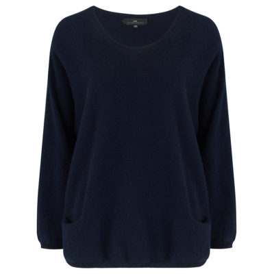 navy two pocket jumper