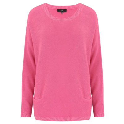 Neon pink two pocket cashmere jumper