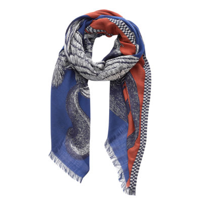 Wildlife Love Wool Scarf