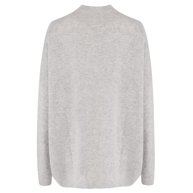 Heather Grey cashmere pullover