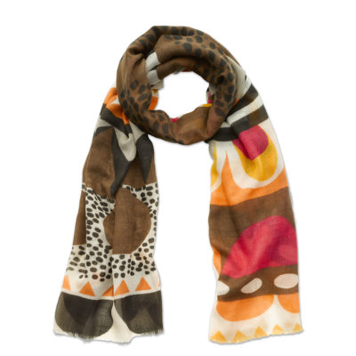 Scandi Chocolate scarf