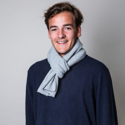 mens grey cashmere wool scarf
