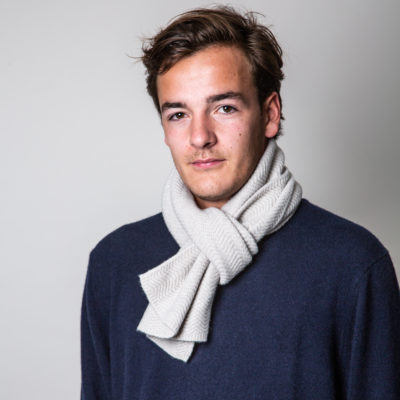 mens oatmeal cashmere wool scarf