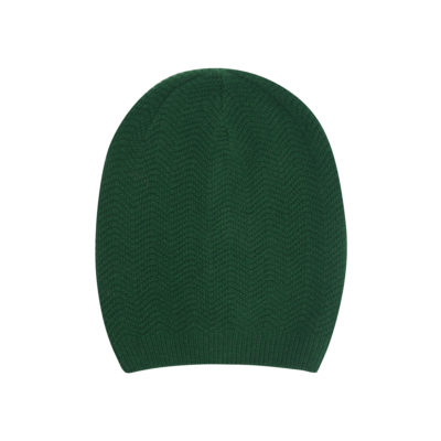 emerald cashmere wool hat