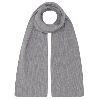 Grey Cashmere Wool Scarf