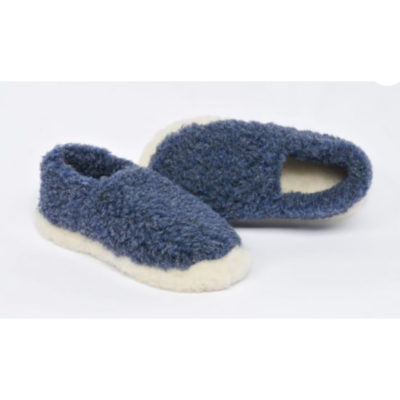 navy lambswool slippers