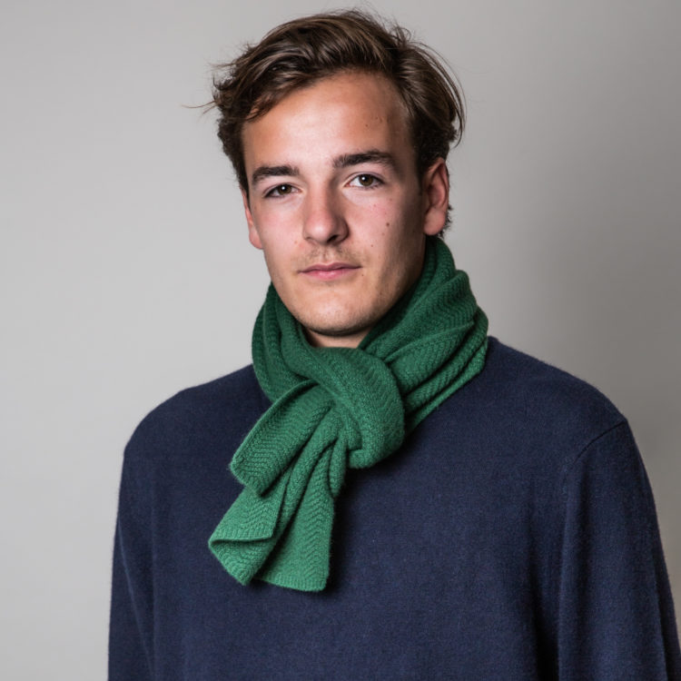 mens emerald cashmere wool scarf