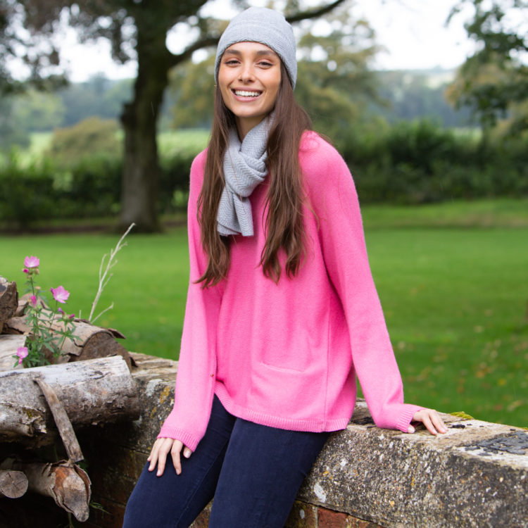 Two pocket pink Jumper