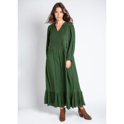 Green Louisette Dress