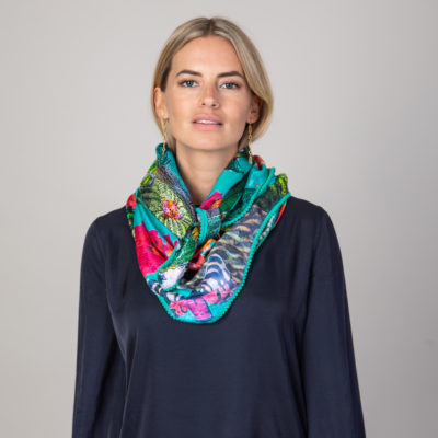 Tiger moth silk scarf