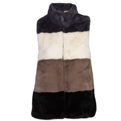 Blue Faux Fur Gilet