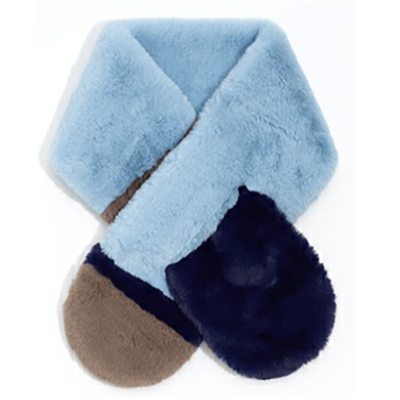 Blue faux fur loop