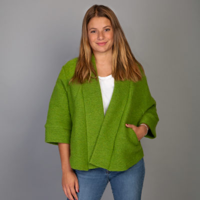 Emerald Boiled wool jacket