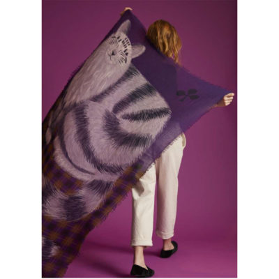 Big Cat wool scarf