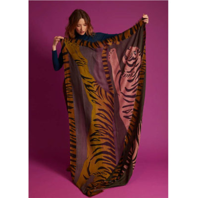 Two Tigers cashmere wool scarf