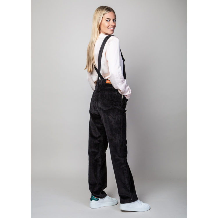 Black cord dungarees
