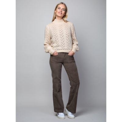 Brown needlecord jeans