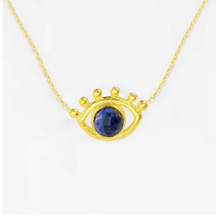 Lapis eye necklace