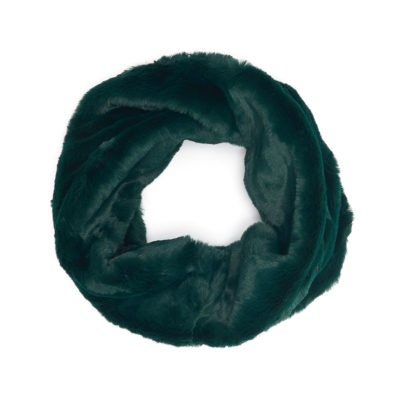 Green faux fur snood