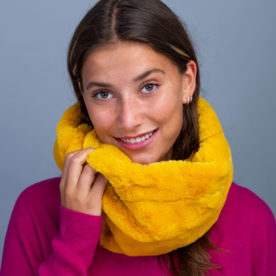 Yellow Faux Fur snood
