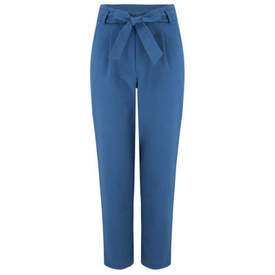 Blue high waist trousers front
