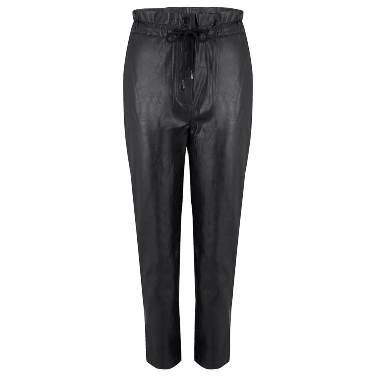 Black PVC trousers front