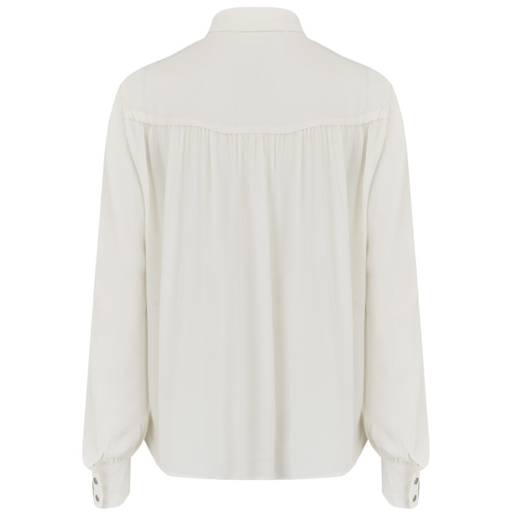 Ivory collared shirt back