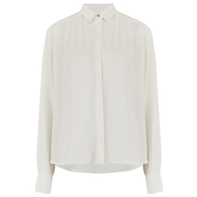 ivory collared shirt front