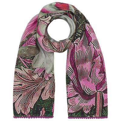 purple cockatoos silk scarf