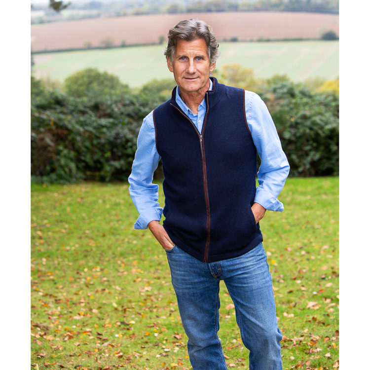 Navy cashmere wool gilet