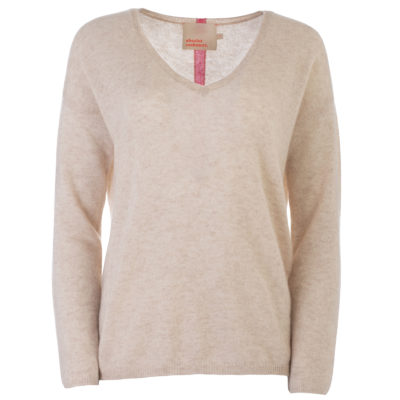 Marcelle Oatmeal Cashmere Jumper