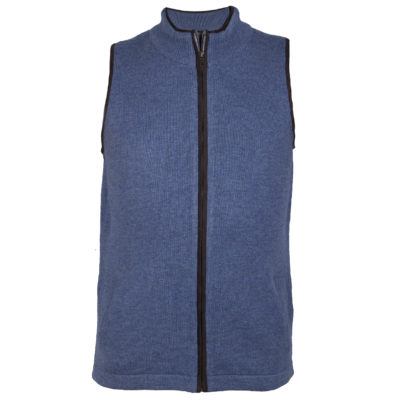Mens Sky Blue Cashmere Wool Gilet