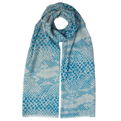 Blue Ripple Summer Scarf