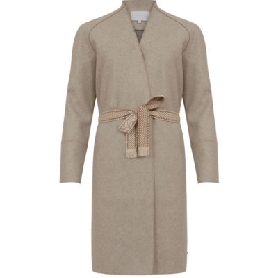 Cream Wool Felt Coat