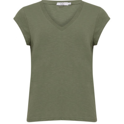 Mineral Green V Neck T shirt