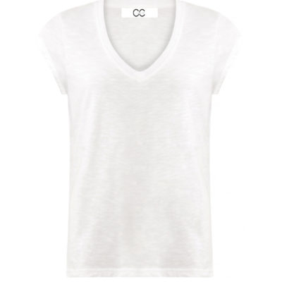 White V Neck T shirt