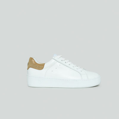 Lova White and Gold Trainer